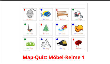 Map-Quiz: Möbel-Reime 1