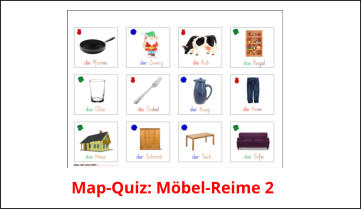 Map-Quiz: Möbel-Reime 2