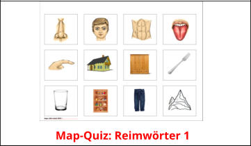 Map-Quiz: Reimwörter 1